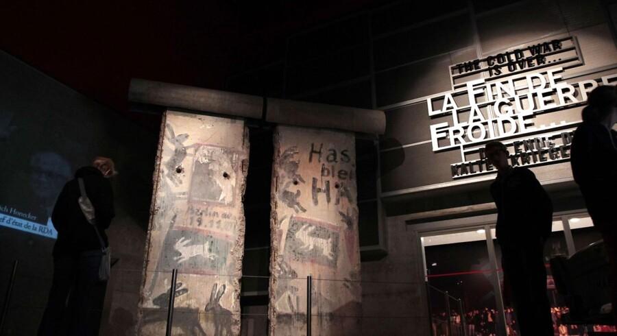 Et stykke af den berømte og berygtede mur befinder sig i det nordvestlige Frankrig i byen Caen.