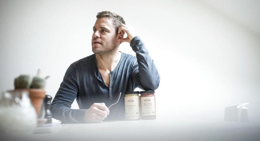 Portræt af Jakob Jønck, der er tidligere stiftede Endomondo. Nu har han kastet sig ud i et nyt start-up, som skal sælge sund fastfood.