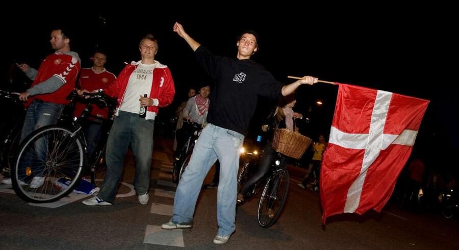 Arkivbillede fra Danmarks landskamp mod Sverige i 2007.