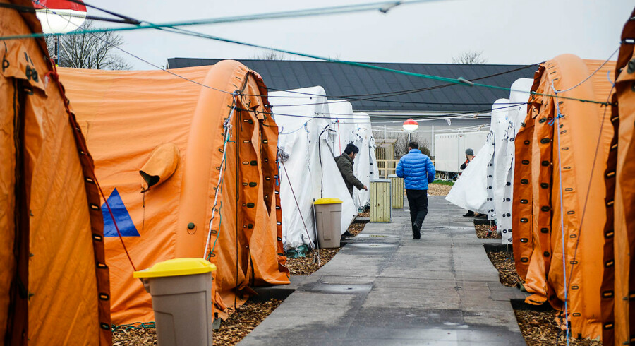 ARKIVFOTO 2016 af teltlejr for flygtninge i Thisted