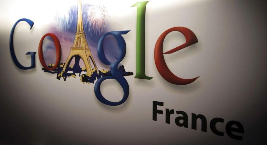 Google skal på sin franske hjemmeside offentliggøre datatilsynets afgørelse, som betyder en bøde på 1,1 millioner kroner. Foto: Joel Saget, AFP/Scanpix