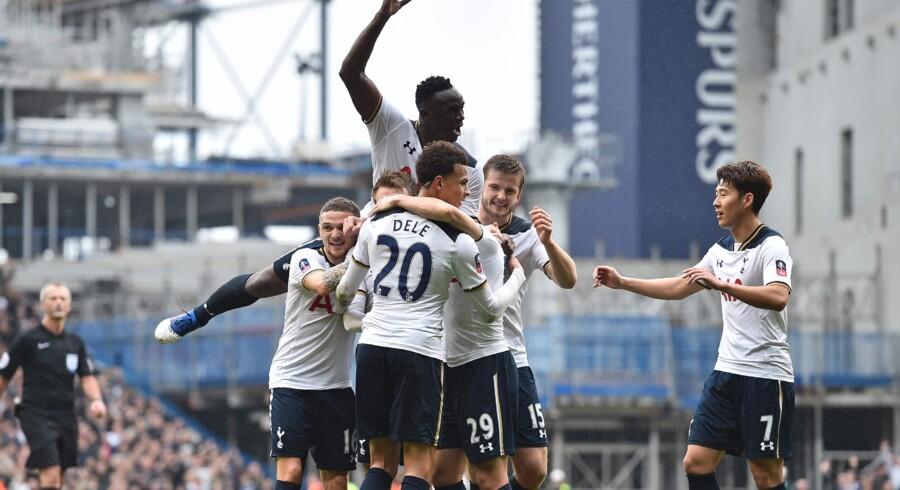 Christian Eriksen åbnede målscoringen for Tottenham mod Millwall. Scanpix/Glyn Kirk