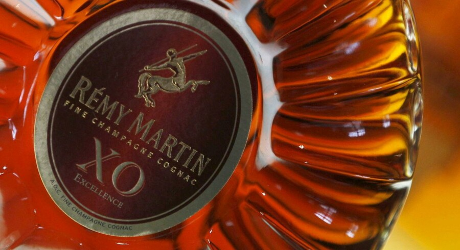 "A bottle of ""XO"" (extra old) cognac is displayed at the Remy Martin distillery in Cognac, southwestern France, in this October 8, 2012 file photo. Remy Cointreau is expected to report Q1 results this week. REUTERS/Regis Duvignau/Files GLOBAL BUSINESS WEEK AHEAD PACKAGE - SEARCH ""BUSINESS WEEK AHEAD JULY 20"" FOR ALL IMAGES"