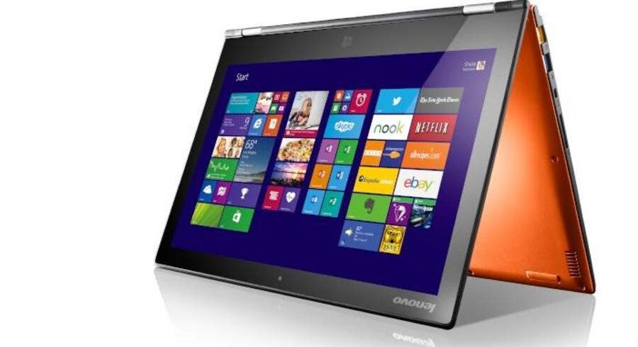 Lenovo har tilsyneladende fået fat med sin serie af Yoga-PCer, som kan foldes hele vejen rundt. Foto: Lenovo