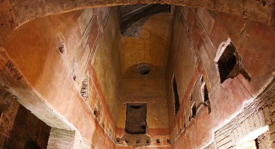 Neros gyldne hus - Domus Aurea - er i dag underjordisk og rammes ofte af oversvømmelser. Det er et af de kulturarvsprojekter, der nu skal have et løft af den italienske stat.