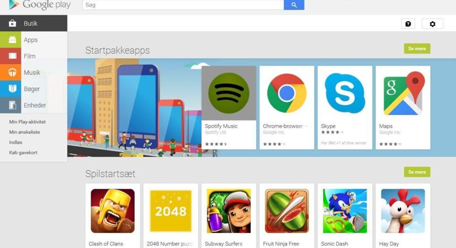 Sikkerheden strammes op i Googles netbutik, Play. Internetgiganten vil kontrollere alle nye applikationer.