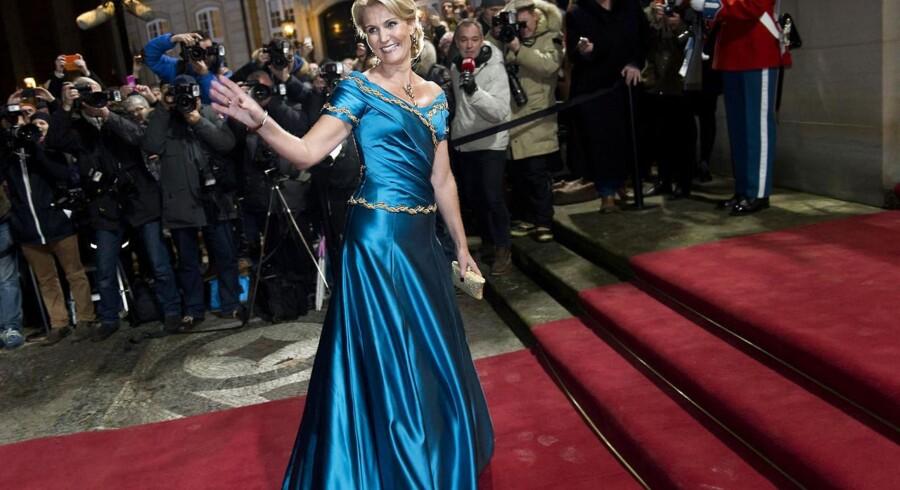 Statsminister Helle Thorning-Schmidt til nytårskur hos Dronningen. .