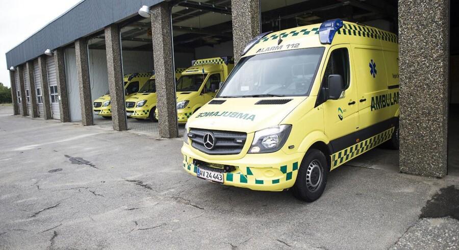 Arkivfoto af ambulancer i Esbjerg.