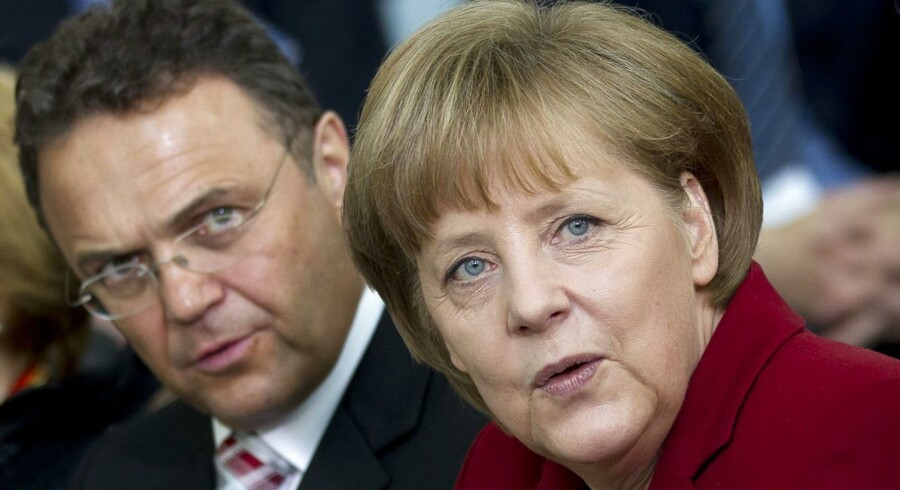 Angela Merkel og Hans-Peter Friedrich.