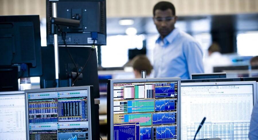 Arkivfoto. Det danske aktiemarked åbner med mindre fald tirsdag morgen, og dermed ser det umiddelbart ikke ud til at blive alle gode gange tre for C20 Cap-indekset, der de seneste to handelsdage har sat lukkerekord.