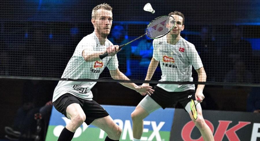Arkivfoto: Mathias Boe og Carsten Mogensen var bedst i slutfasen af begge sæt mod et par fra Indonesien ved Korea Open.