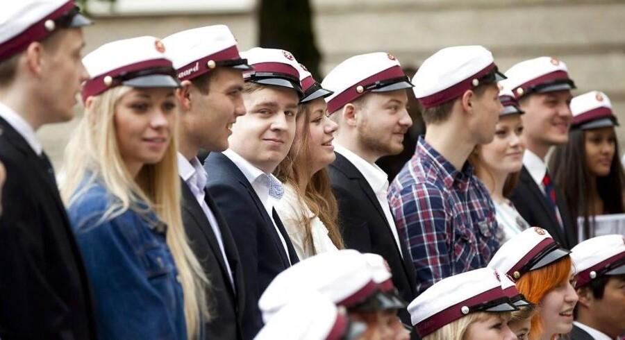 Translokation på Viborg Katedralskole i 2012. Danske unge løber i dag hurtigere igennem uddannelsessystemet end for 25 år siden. Målrettetheden hos nutidens unge er mærkbar, mener flere forskere.
