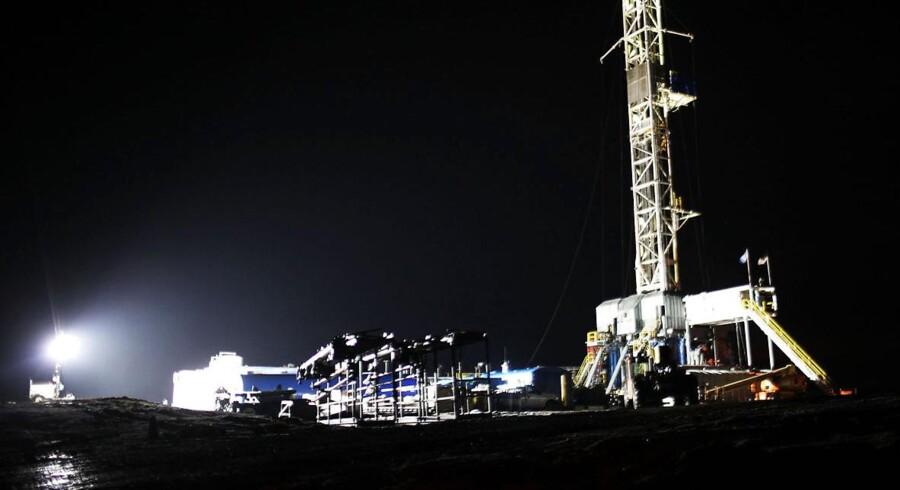 Her ses en gasboring i Springville, Pennsylvania.