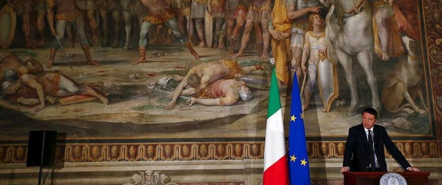Den italienske regeringsleder, Matteo Renzi, foreslår blandt andet, at alle 18-årige modtager 500 euro fra staten, som er øremærket til kulturelle formål som teater, koncerter eller museer – her på Capitoline Museum i Rom.