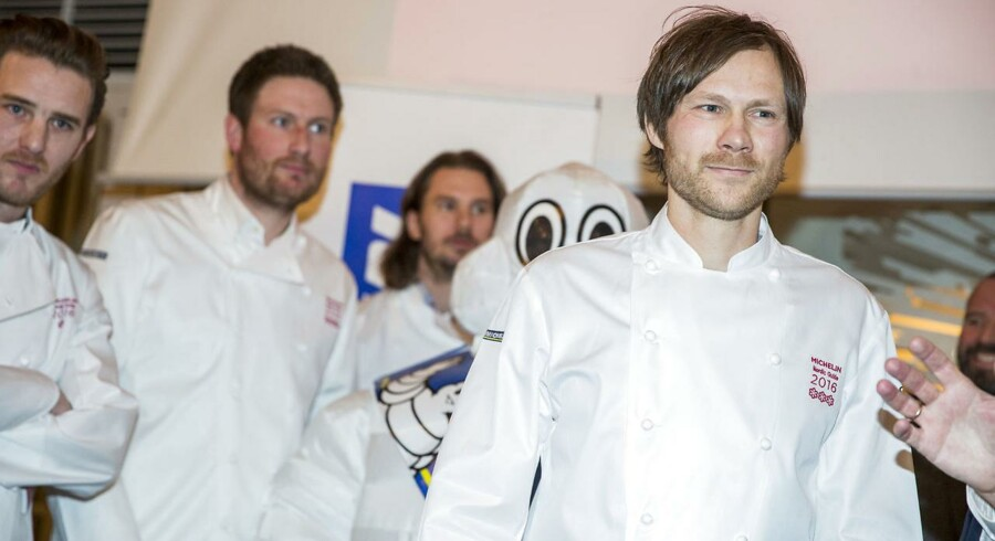 Rasmus Kofoed fra den danske restaurant Geranium modtager tre stjerner.