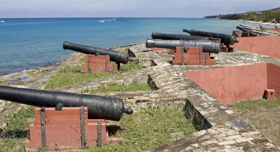 Det danske Fort Frederik i Frederikssted på St. Croix blev opført mellem 1752 og 1760 for at beskytte de danske koloniinteresser i Dansk Vestindien.