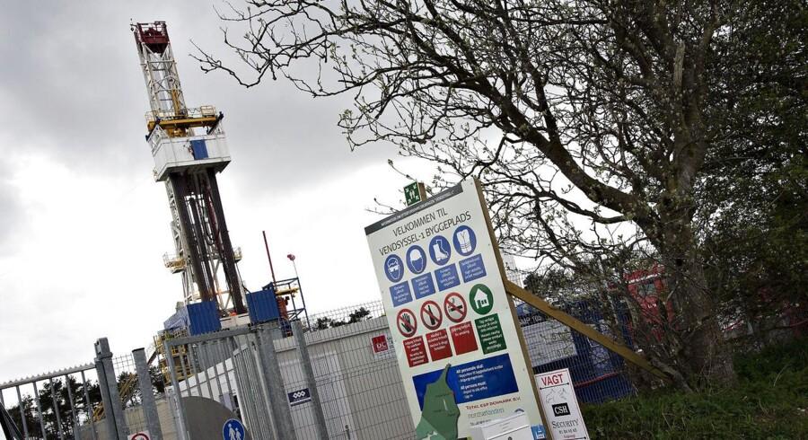 Franske Total dropper omstridt skiferboring i Nordjylland. Arkivfoto: ARKIVFOTO 2015 af energiselskabet Totals boringer ved Dybvad i Nordjylland.