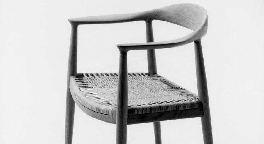 Hans Wegners »The Chair« som den blev kaldt i udlandet, hvor den tidligt blev berømmet. Herhjemme hed den bare »Den runde stol«. Foto: PR