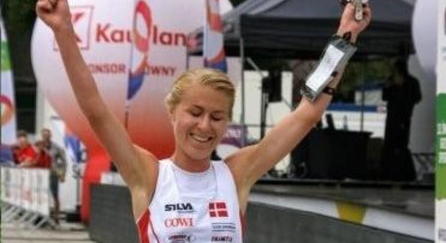 Maja Alm var hurtigst over målstregen ved World Games. Free/Dansk Orienterings-Forbund.