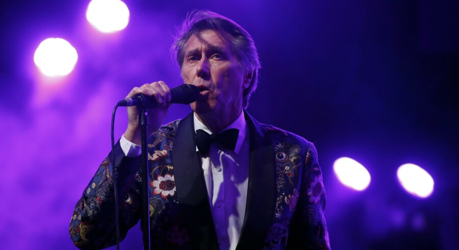 Bryan Ferry ved en koncert i Californien i april.