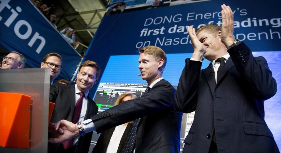 Henrik Poulsen, adm. direktør i Ørsted, og bestyrelsesformand Thomas Thune Andersen sendte i juni 2016 energiselskabet på børsen. Som en del af børsnoteringen skulle Ørsted sælge en række aktiver til Energinet.dk, men her tre år efter er dette endnu ikke sket.