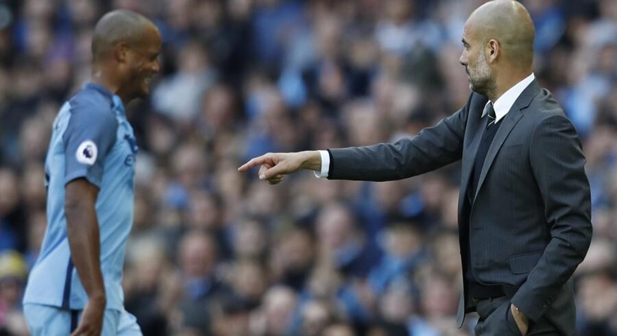 Manchester City havde Vincent Kompany med igen hjemme mod Southampton søndag, efter at belgieren har været ude med en skade i længere tid. Reuters/Phil Noble