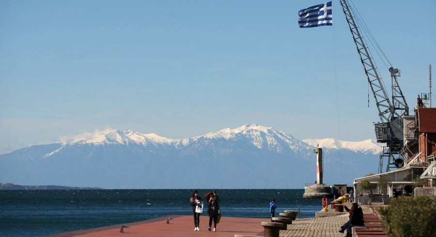 Thessaloniki havn, 2. april, 2015. AFP PHOTO /Sakis Mitrolidis