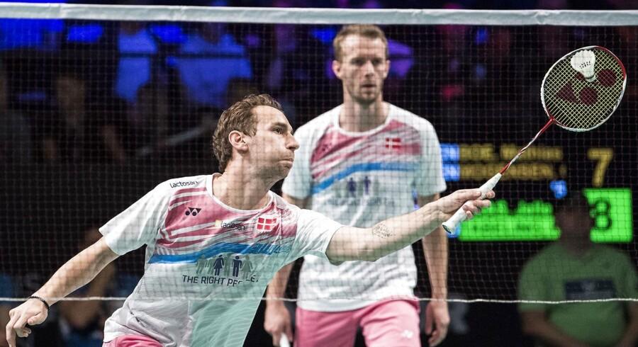 Den rutinerede danske badmintonduo tabte til ungt par fra Taiwan i finalen ved French Open i Paris. (Foto: Claus Fisker/Scanpix 2017)