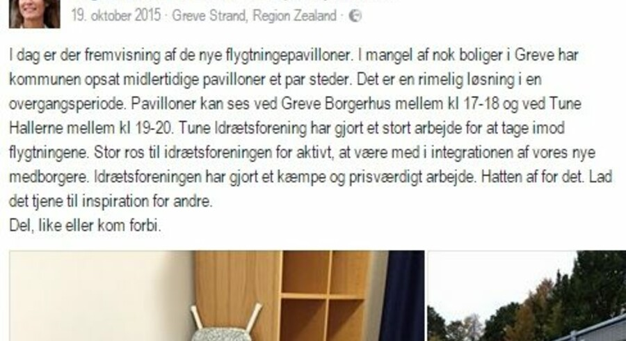 """Det var en kommentar til dette facebookopslag fra i fjor, som tirsdag førte til en betinget dom mod en 58-årig mand. Manden skrev """"Brænd lortet ned"""". Free"""