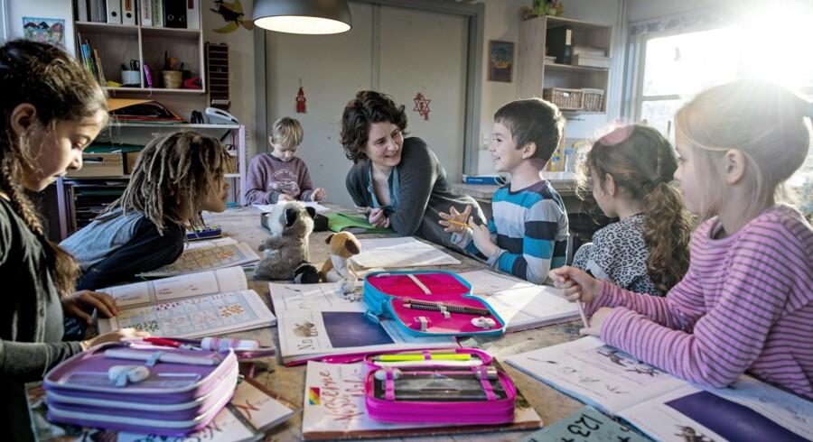En undersøgelse fra Undervisningsministeriet viser, at 37 procent af 1.-3. klasserne har fri efter klokken 14 mindst én dag om ugen, selv om skoledagene skulle slutte 14.00. Foto: Christian Liliendahl