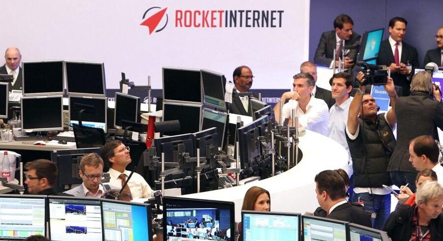 Rocket Internet og datterselskabet Zalando får gevaldige stryg på børsen i Frankfurt i dag, kort efter deres børsnoteringer.