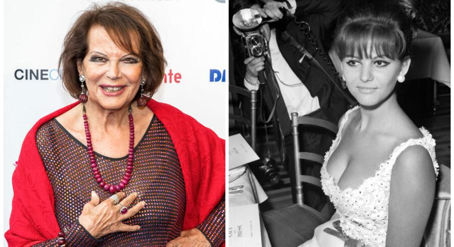 Claudia Cardinale nu og før. Arkivfoto