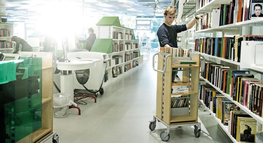 342.000 gange sidste år fandt medabejdere på de københavnske biblioteker forgæves materiele frem til borgere. Foto: Scanpix