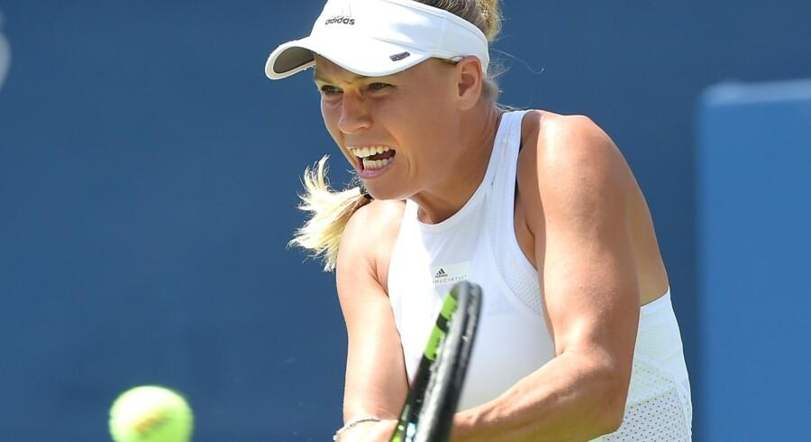 Caroline Wozniacki har en semifinale som sit bedste resultat i Cincinnati. Scanpix/Dan Hamilton