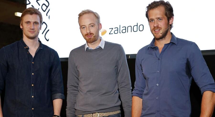 David Schneider, Rubin Ritter og Robert Gentz er lederne af den online modeforretning Zalando, der står foran en børsnotering.