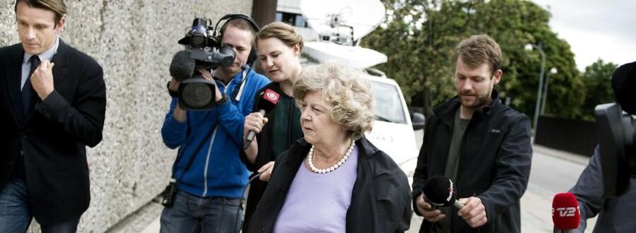 Tidligere integrationsminister Birthe Rønn Hornbech (V) er i statsløsekommissionen i dag, tirsdag 4. juni 2013.