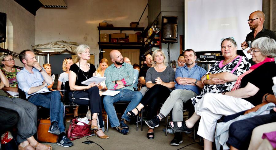 Kulturmødet på Mors 20. - 22. august 2015. Foruden de store debatter, er der også plads til mindre diskussionsgrupper. Foto: Astrid Dalum
