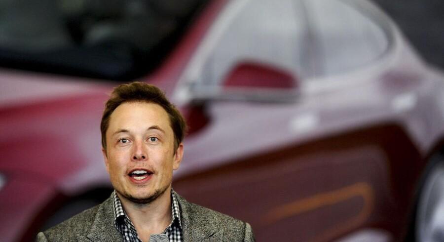 Tesla Motors medstifter og topchef, Elon Musk, kan glæde sig over sin virksomheds vækst.