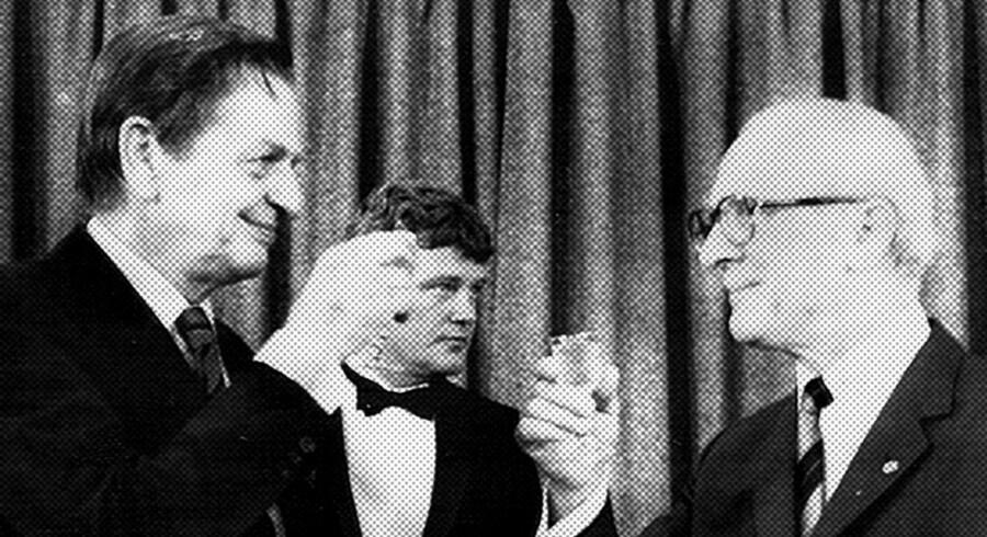Den svenske statsminister Olof Palme og DDR-chef Erich Honecker ses sammen til et af deres fælles møder. De to statsledere plejede tæt konakt i 1970erne ifølge en ny bog af Christoph Andersson.