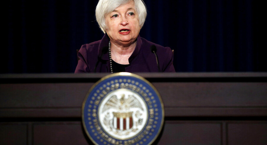FILE PHOTO - - Federal Reserve Chair Janet Yellen attends a news conference after chairing the second day of a two-day meeting of the Federal Open Market Committee to set interest rates in Washington, DC, U.S. on June 17, 2015. REUTERS/Carlos Barria/File Photo