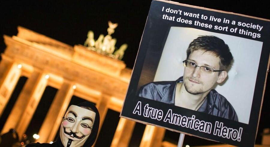 Den afhoppede whistleblower Edward Snowden