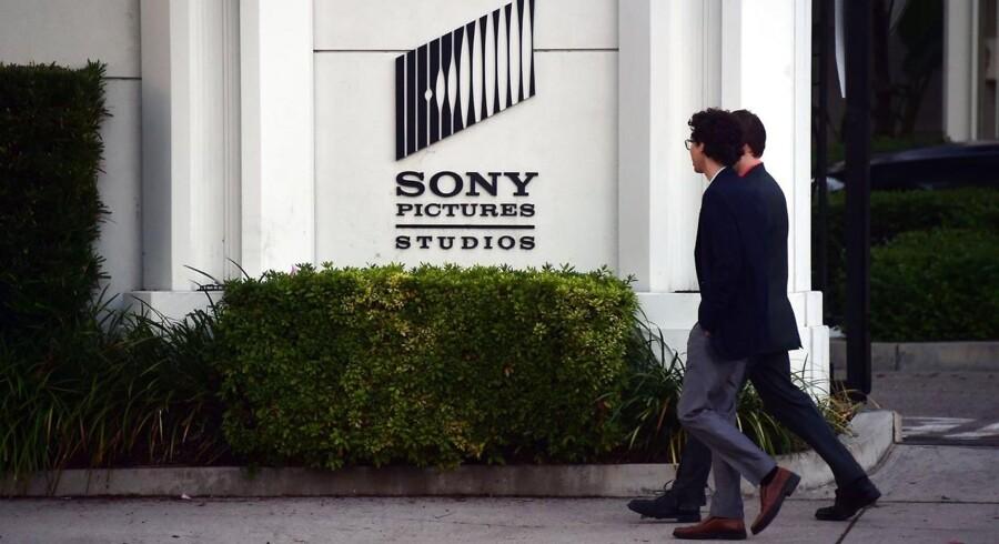 Sony Pictures' filmstudier i Los Angeles i USA blev 24. november lagt ned af hackere, som stjal både film og fortroligt materiale. Nordkorea har været hovedmistænkt, men FBI kan ikke finde spor, der peger i den retning. Arkivfoto: Frederic J. Brown, AFP/Scanpix