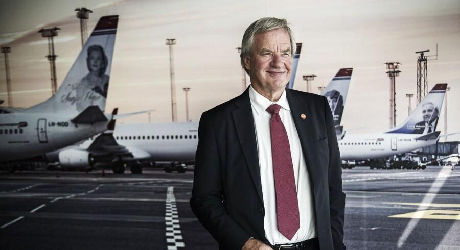Norges daværende erhvervsminister bad i 2011 Norwegians adm. direktør Bjørn Kjos om at købe SAS. Danmark var ifølge Kjos klar til at sælge, men handlen gik i sidste ende i vasken. Arkivfoto.