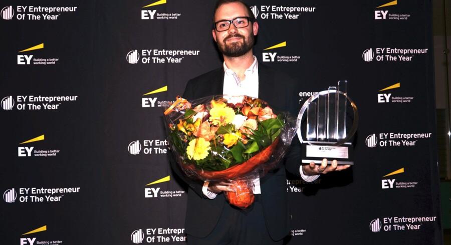 Brian Munck Andersen, manager i Netcompany A/S, der modtager prisen som EY Entrepreneur Of The Year i region København på vegne af Netcompany's CEO André Rogaczewski.