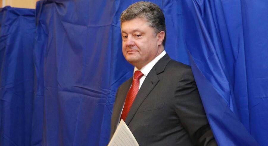 Porosjenko stemte i Kiev.