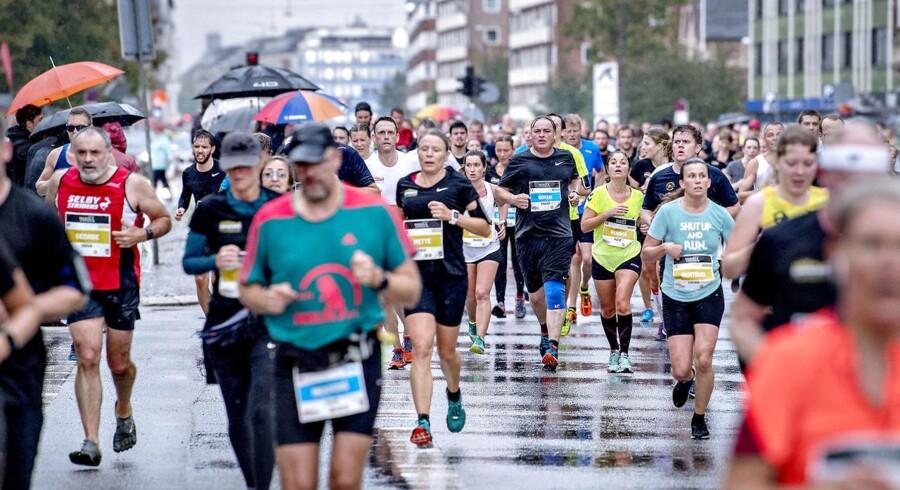 Søndag d. 17. september 2017 blev der løbet Copenhagen Half Marathon 2017. Mere end 20.000 deltog, men hurtigste løber blev Abraham Cheroben i tiden 58.40.. (Foto: Bax Lindhardt/Scanpix 2017)