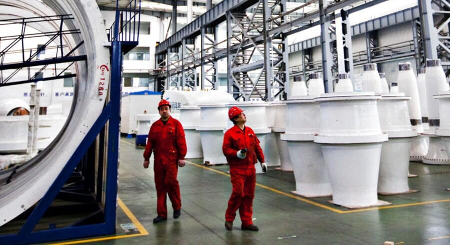 Produktions hal hos kinesiske vindmølle producent Goldwind.