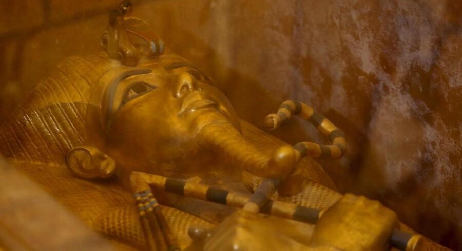 Tutankhamuns gyldne sarkofag.