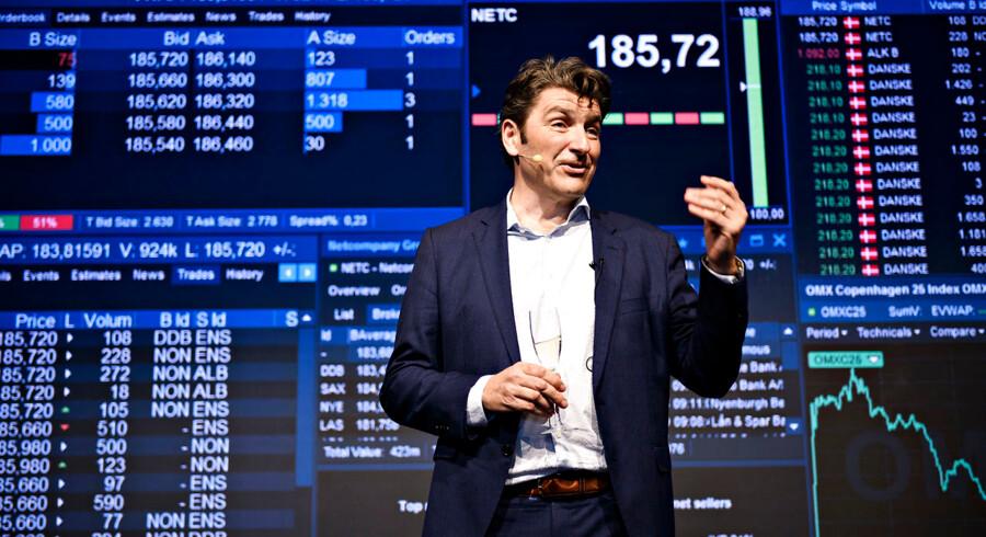 Administrerende direktør og medstifter af Netcompany André Rogaczewski, da Netcompany børsnoteres og handlen skydes i gang i DRs Koncerthus, studie 1. Aktien kom flyvende fra start.