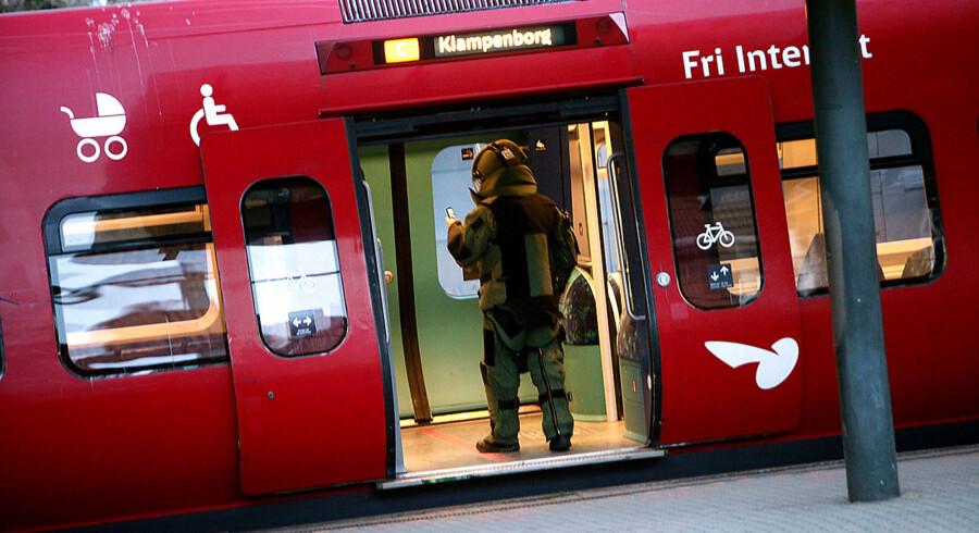 Mistænkelig genstand i S-Tog på Valby Station.